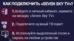 подключить Seven Sky TV